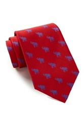 Alara Silk Taft Red And Blue Elephant Tie