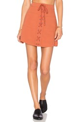 Lovers Friends Beachwood Skirt Rust