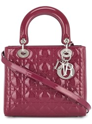 Christian Dior Vintage Lady Cannage Tote Red