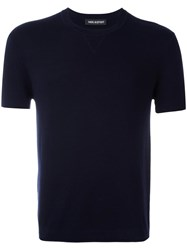 Neil Barrett Short Sleeve Jumper Blue