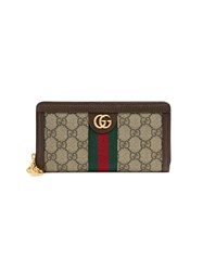 Gucci Ophidia Gg Zip Around Wallet Nude And Neutrals