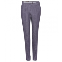 Loro Piana Fred Irish Tapered Linen Trousers Classic Denim