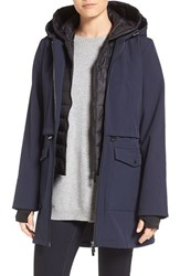 French Connection Women's Three Quarter Anorak With Removable Bib Utililty Blue