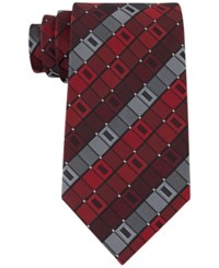 Geoffrey Beene Men's All Day Geo Ii Tie Red