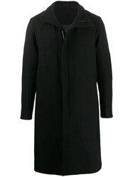 Devoa Mid Length Coat Black