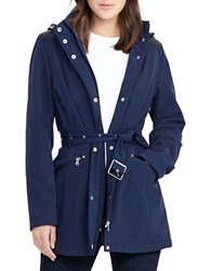 Lauren Ralph Lauren Hooded Soft Shell Jacket Navy