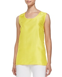 Caroline Rose Shantung Solid Tank Yellow Women's