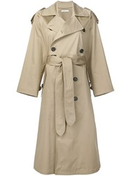 Tome Belted Trench Coat Nude And Neutrals
