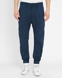 G Star Navy Rovic Zip Tapered Elasticated Ankle Chinos