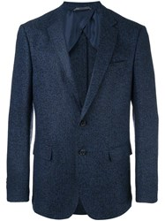 Hugo Boss Grain Effect Blazer Blue
