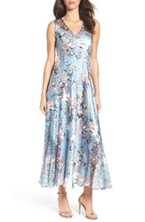 Komarov Women's Charmeuse And Lace Maxi Dress
