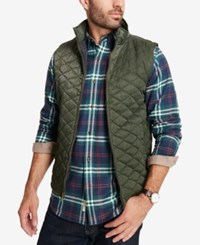 Weatherproof Vintage Men's Quilted Full Zip Stand Collar Vest Created For Macy's Pine