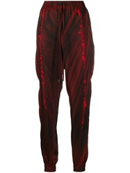 Ilaria Nistri Scarlet Flow Print Trousers Red
