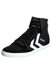 Hummel Slimmer Stadil High Canvas Hightop Trainers Black Pool