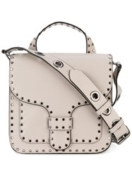 Rebecca Minkoff Studded Shoulder Bag Women Cotton Leather One Size Nude Neutrals