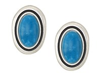 The Sak Large Stone Clip On Earrings Teal Earring Blue