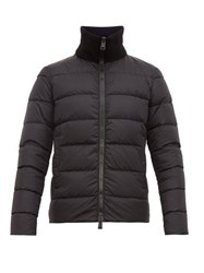 Herno Chamonix Ribbed Neck Quilted Down Coat Black