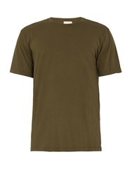 Solid And Striped The Tee Cotton Jersey T Shirt Green