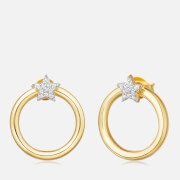 Missoma Women's Mini Pave Star Front Facing Hoops Gold