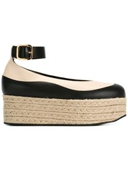 Marni 'Vitello' Platform Espadrilles Nude And Neutrals