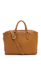 Marc By Marc Jacobs Classic Leather Briefcase Caramel Brown