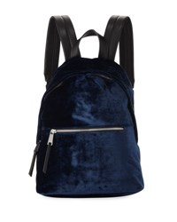French Connection Jace Velvet Zip Around Backpack Navy