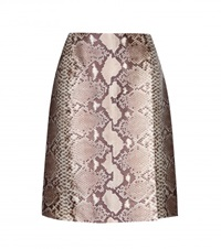 Tory Burch Printed Silk Skirt Beige