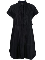 Rag And Bone Layered Shirt Dress Black