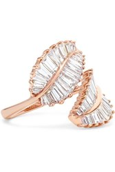 Anita Ko Palm Leaf 18 Karat Rose Gold Diamond Ring