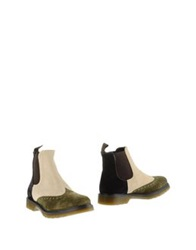 Never Ever Ankle Boots Military Green