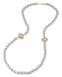 Carolee Strand Necklace 34 Gray Gold