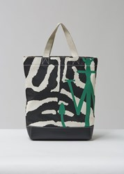 J.W.Anderson Jw Anderson Logo Tote Black And White Black And White