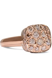 Pomellato Nudo Solitaire 18 Karat Rose Gold Diamond Ring 12