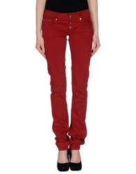 Dondup Denim Pants Brick Red