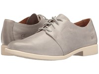 Born Passi Grey Full Grain Women's Lace Up Wing Tip Shoes Gray