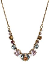 Sorrelli Delicate Round Crystal Necklace Pink Multi