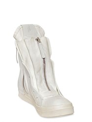 Cinzia Araia Canvas And Leather High Top Sneakers