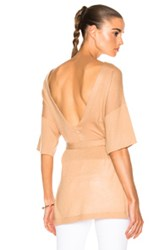 Soyer Low Back Tunic Top In Neutrals