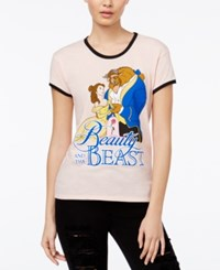 Mighty Fine Disney Juniors' Beauty And The Beast Graphic T Shirt Heather Peach