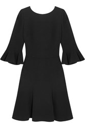 Dolce And Gabbana Open Back Stretch Crepe Dress Black
