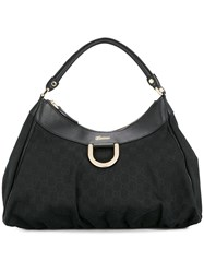 Gucci Vintage Gg Pattern Hand Bag Black