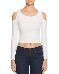 Necessary Objects Cold Shoulder Crop Top Compare At 58 Ivory