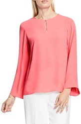 Vince Camuto Women's Bell Sleeve Keyhole Blouse