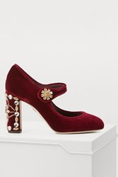 Dolce And Gabbana Mary Jane Pumps Bordeaux