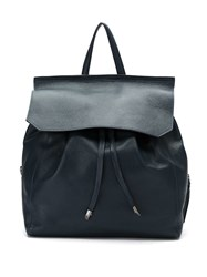 Mara Mac Leather Backpack Blue