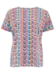 People Tree Zandra Rhodes Wave Stripe Tee Multi Coloured