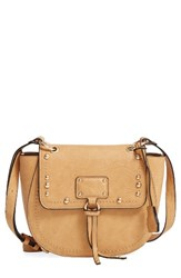 Sole Society Studded Faux Leather Crossbody Bag Brown Camel