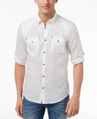 Inc International Concepts Men's Harrison Dual Pocket Shirt Only At Macy's White
