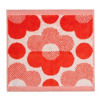 Orla Kiely Sunset Floral Towel Persimmon Face Towel