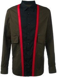 Dsquared2 Block Colour Panelled Shirt Green